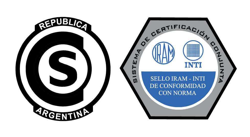 IRAM-INTI Sistema de certificación conjunta para cables de acero selo de aprovação para elevadores norma IRAM 840 licença DC-M-I91-001.1C1.