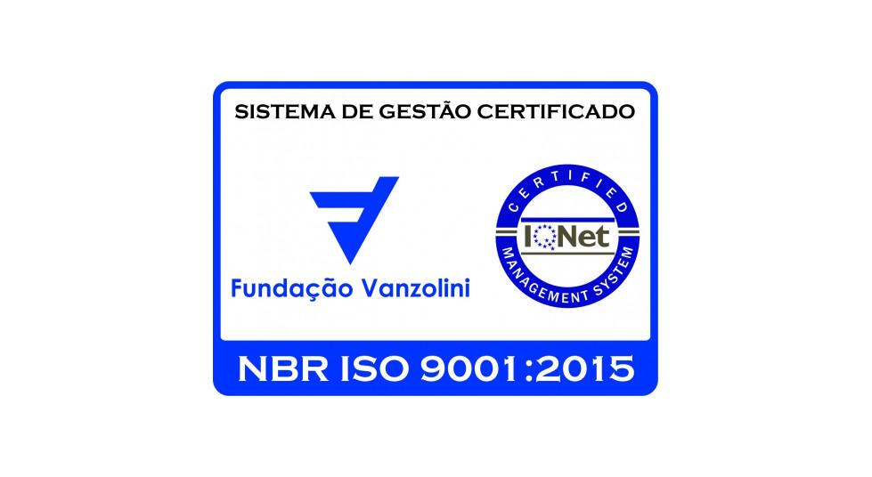 Fundação Vanzolini NBR ISO 9001:2015, certificado SQ 21032